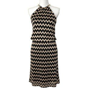 MSK Women's Chevron Print Halter Dress, Size 6